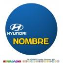 Oblea Hyundai Personalizada con nombre