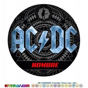 Oblea AC-DC  Personalizada con nombre ACDC ac dc