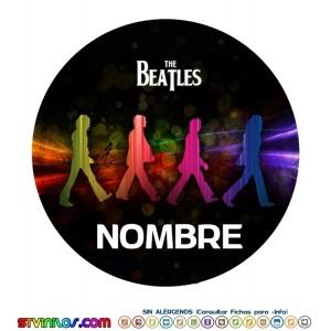 Oblea The Beatles  Personalizada con nombre