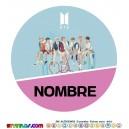 Oblea BTS  Personalizada con nombre