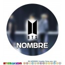 Oblea BTS  Personalizada con nombre Mod 2