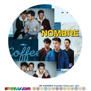 Oblea Jonas Brothers Personalizada con nombre