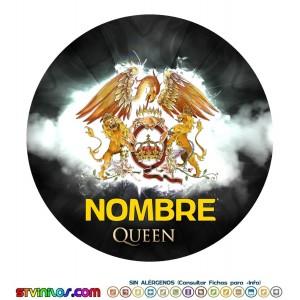 Oblea Queen Personalizada con nombre Freddie Mercury Freddy