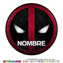 Oblea Deadpool Personalizada con nombre