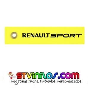 Llavero Tela Renault Sport Amarillo
