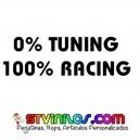 PEGATINA 0% TUNING 100% RACING