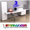 Vinilo Decorativo Pared BTT Bicicleta Ciclismo MTB