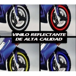 f38817085 Vinilo Reflectante Llanta Moto Coche