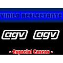 Pegatina Reflectante Casco Moto AGV