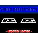 Pegatina Reflectante Casco Moto NZI
