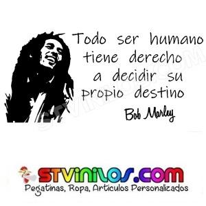 Vinilo Decorativo Bob Marley Frase
