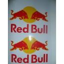 Pegatinas Red Bull Amarillo-Rojo