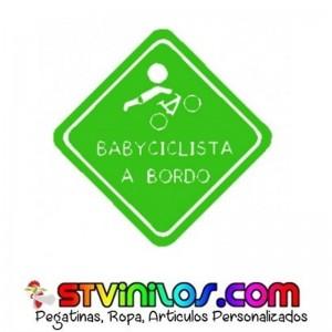 Pegatina A Bordo Baby Cliclista