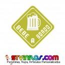 Pegatina A Bordo Bebe Beber Cerveza