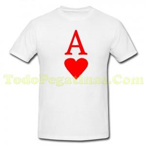 Camiseta As de Corazones