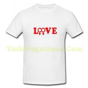 Camiseta LOVE amor Homosexual Lesbiana