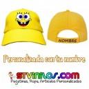 Gorra Bob Esponja Personalizada Nombre