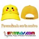 Gorra Infantil Pikachu Pokemon Personalizada Nombre