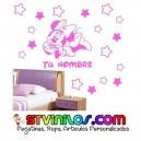 Vinilo Minnie Estrellas Personalizado Nombre