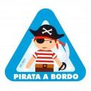 Pegatina Bebe a Bordo Pirata
