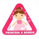 Pegatina Bebe a Bordo Princesa