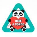 Pegatina Bebe a Bordo Oso Panda Corazon