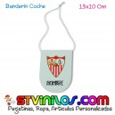 Banderin Sevilla FC para coche personalizado con nombre