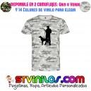 Camiseta Caza Cazador con perro Monteria