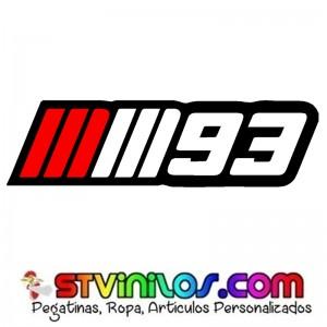 Pegatina mm93 Marc Marquez 93