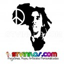 Vinilo Decorativo Bob Marley Africa Mapa Paz