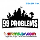 Vinilo 99 problems Fortnite Decorativo Pared