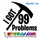 Vinilo I got 99 problems Fortnite Decorativo Pared