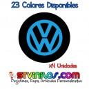 Pegatina Tapa Llanta Volkswagen Logo Vinilo buje eje tapon rueda