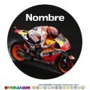 Oblea Marc Marquez Personalizada con nombre Modelo 2