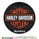 Oblea Harley Davidson Personalizada con nombre Modelo 2