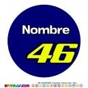 Oblea Valentino Rossi Personalizada con nombre Modelo 2