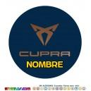 Oblea Cupra Seat Personalizada con nombre