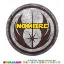 Oblea Orden Jedi Personalizada con nombre Star Wars Mod 2