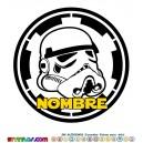 Oblea Soldado Imperial Personalizada con nombre Star Wars