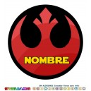 Oblea Alianza Rebelde Personalizada con nombre Star Wars