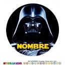 Oblea Darth Vader Personalizada con nombre Star Wars
