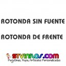 PEGATINA ROTONDA SIN FUENTE ROTONDA DE FRENTE