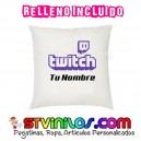 Cojin Logo Twitch personalizado con nombre