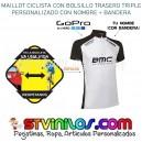 Maillot Ciclismo Logo BMC con nombre + bandera