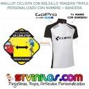 Maillot Ciclismo Logo Cube con nombre + bandera