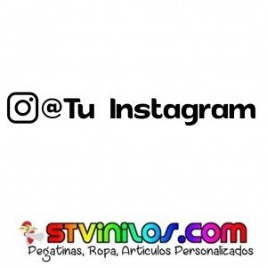 Pegatina Instagram @tunombre