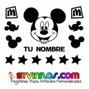Vinilo Mickey Mouse Personalizado con nombre