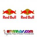 Pegatinas Red Bull Rojo-Oro