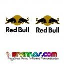Pegatinas Red Bull Negro Mate - Oro