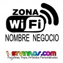 Pegatina Zona Wifi Personalizada Cartel Vinilo Clave